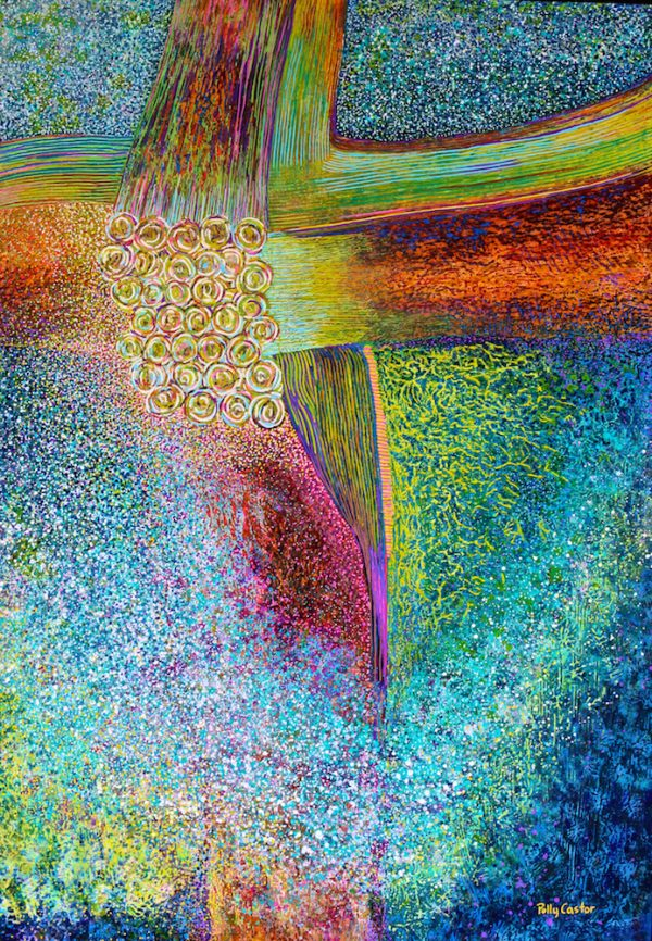 Nexus painting by Polly Castor