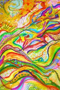 Joyful Release (watercolor) by Polly Castor