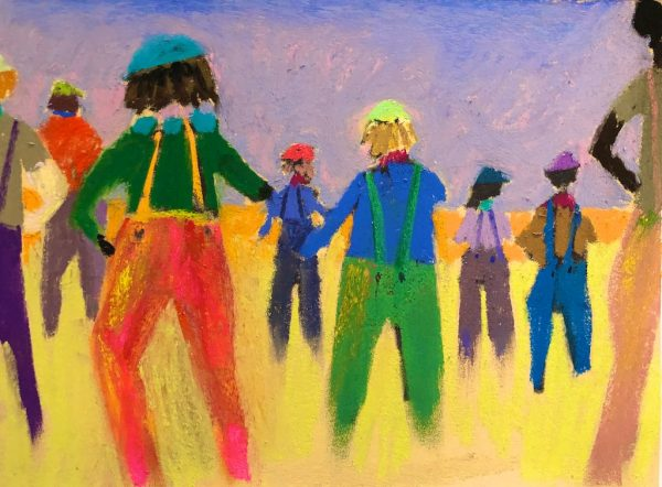 Tony's People (pastel) by Polly Castor