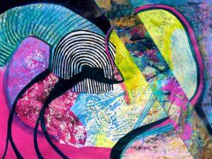 Baffled (acrylic) by Polly Castor