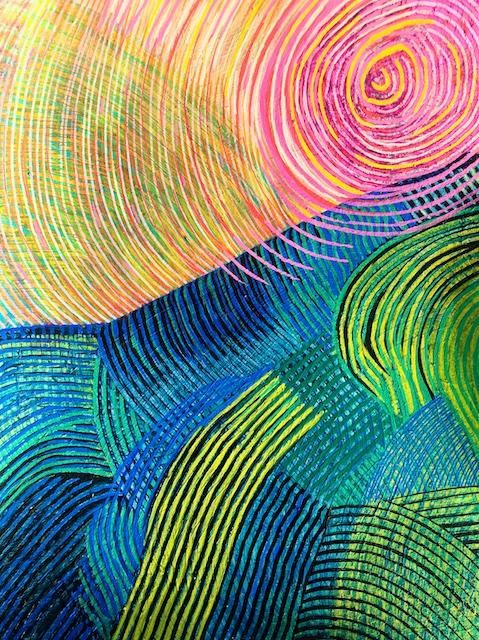 Light-filled Linear Landscape (acrylic) by Polly Castor