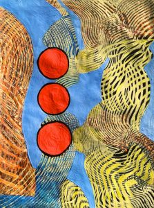 Running a Red (acrylic) by Polly Castor