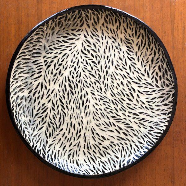 Polly Castor sgraffito pottery available