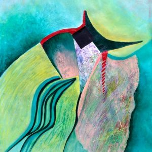 Bodes Well abstract painting by Polly Castor