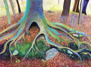 Growing in Rocky Ground (pastel) by Polly Castor