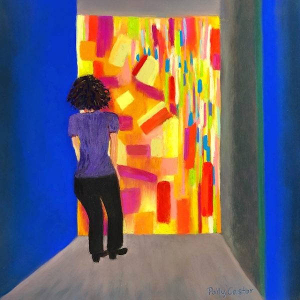 At the Portal of the Afterlife (pastel) by Polly Castor