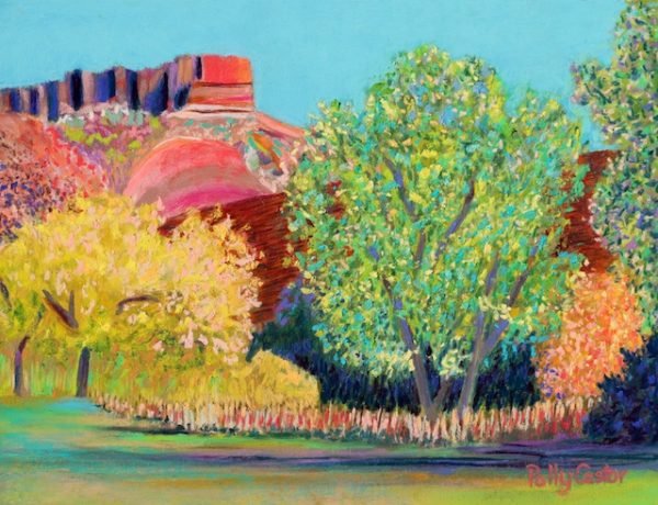 Changing Seasons in the Palo Duro Canyon (pastel) by Polly Castor