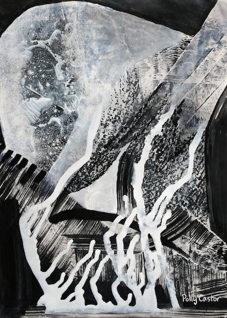 Hidden Hot Springs (acrylic) by Polly Castor