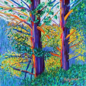 Glad for Sun After Weeks of Rain (pastel) by Polly Castor