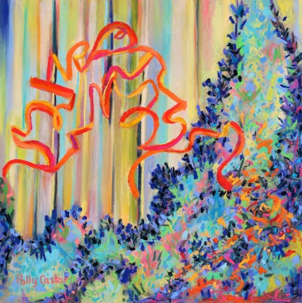 Woodland Melody (pastel0 by Polly Castor