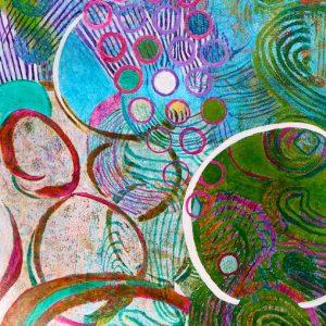 Ocean Oxygen (acrylic) by Polly Castor