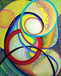 In Utero (pastel) by Polly Castor