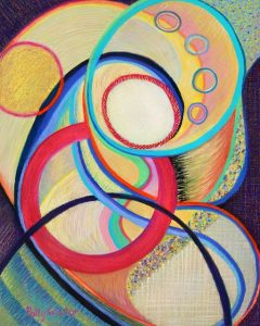 In Utero (abstract pastel painting) by Polly Castor