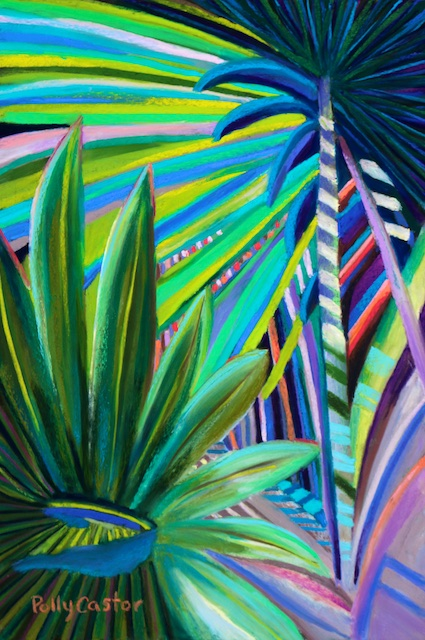 Palm Sunday (pastel) by Polly Castor