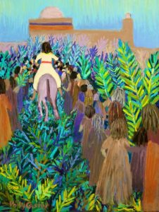 Hosanna! (Palm Sunday painting in pastel) by Polly Castor