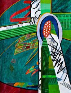 Cruciform #4 (acrylic) by Polly Castor