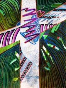 Cruciform #6 (acrylic) by Polly Castor
