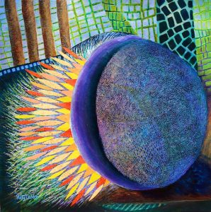 The Power that Rolls the Stone Away (Easter painting) by Polly Castor