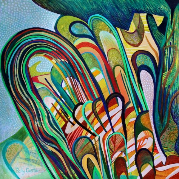 Emergent (acrylic) by Polly Castor