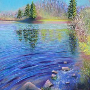 Gentle Spring Breeze (pastel) by Polly Castor