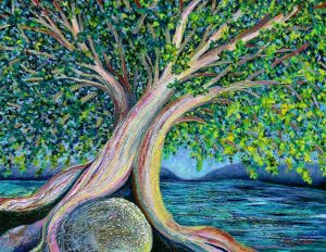 Tree of Life (oil painting) by Polly Castor