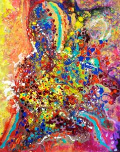Abstracted Person Playing