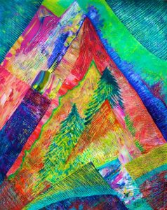 An Advent Tree Motif (acrylic) by Polly Castor