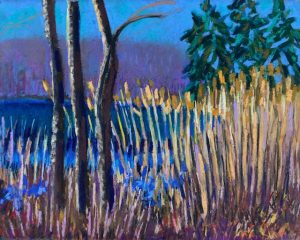 Warm February at Putnam Park (pastel) by Polly Castor