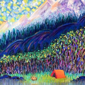 Happy Camping (pastel) by Polly Castor