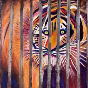 Captivity (pastel) by Polly Castor