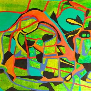 Circuitous Path (acrylic painting) by Polly Castor